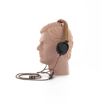Headphones with leather cover