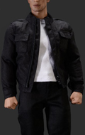 Steve Fashion Jacket Set 1 (Black)