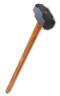 Hockey player wood and metal hammer (Black)
