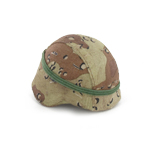 PASGT Helmet with desert camo cover