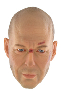 Headsculpt Bruce Willis (Battle Damaged)