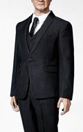 Standard Western-Style Clothes Suit Set (Black)