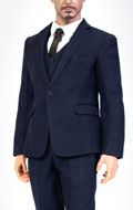 Standard Western-Style Clothes Suit Set (Blue)