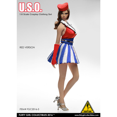 Set vêtements U.S.O. Femme (Rouge)