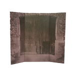 Castle Door Diorama Background (Brown)