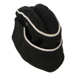 Panzer Heer Officer's Forage Cap (Black)