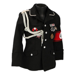 M32 Allgemeine Officer Jacket with Insignia (Black)
