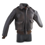 Blouson Flight Jacket en cuir Battle Damaged (Marron)