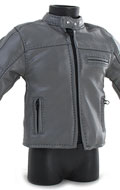 Leather Jacket (Grey)