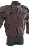 Leather Biker Davidson Reflection Skull Jacket (Brown)
