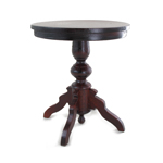 Table guéridon en bois (Marron)