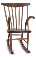 Fauteuil Rocking Chair en bois (Marron)