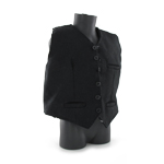 Black Vest Suit Large Size (Black)