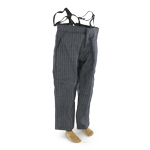Suit Pants with Suspenders Large Size (Grey)