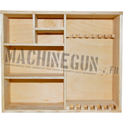 Meuble ratelier bois naturel machinegun for Meuble naturel bois