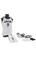 Sawaki Eiji Jersey Basketball Suit Set (White)