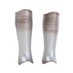 Armures de jambes en métal (Argent)