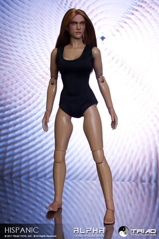 Hispanic Alpha Female Action Figure Body