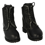 Leather Anckle Boots (Black)