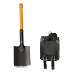Diecast Trench Spade with Leather Cover (Black)