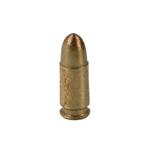 Cartouche Parabellum 9mm en métal (Or)