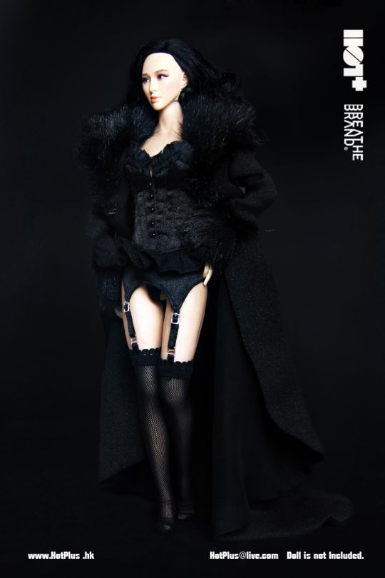 set tenue sexy femme noir machinegun. Black Bedroom Furniture Sets. Home Design Ideas