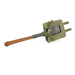Trench spade with tropical case