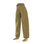 Pantalon tropical en toile vert olive Md1940