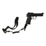 M9 Beretta Pistol with Retention Lanyard (Black)