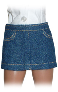 Uniform Series - Mini jupe en jeans Femme (Bleu)