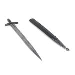 Epée médiévale en métal avec fourreau (Noir)