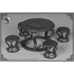 Qing Empire Series - Desk And Chair