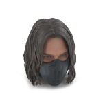 Headsculpt Sebastian Stan masqué