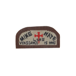 Mike Nate Luis Vengeance Is Mine Patch (Beige)