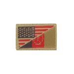 US / Afghanistan Flags Patch
