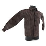 Chemise à carreaux (Marron)