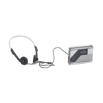 Portable Audio Cassette Player with Headset (Grey)