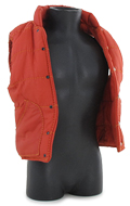 Fleece Sleeveless Jacket (Orange)