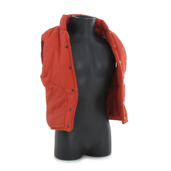 Veste molletonnée sans manches (Orange)