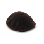 Casquette en velours (Marron)