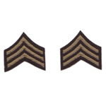 U.S. Army Sergeant Embroidered Shoulder Sleeve Rank Insignia