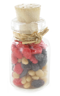 Glass Jar with Dried Fruits (Red)