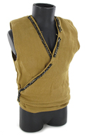 Embroidered Sleeveless Vest (Beige)