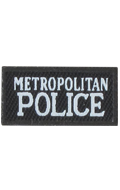 Metropolitan Police Patch (Black)