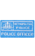 Patch Metropolitan Police Officer (Bleu)