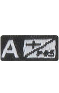 Patch groupe sanguin A+ Positif (Noir)