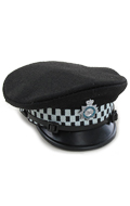 British Metropolitan Police Officer Peaked Cap (Black)