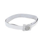 Elite Buckle Leather Equipment Belt (White)