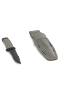Combat Knife with Kydex Sheath (Coyote)