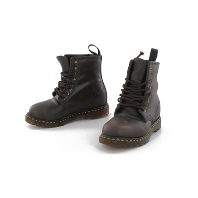 chaussures doc martens marron machinegun. Black Bedroom Furniture Sets. Home Design Ideas